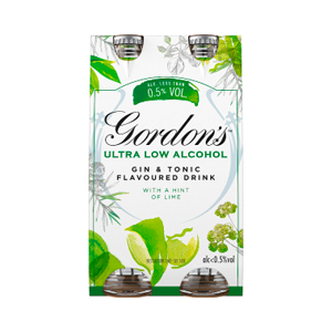 Gordons Ultra Low Alcohol 0.5% Gin & Tonic Flavour with a Hint of Lime 0.5% 12x250ml